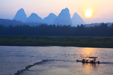Sunrise on the Li River