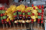 frozen fruit on Wangfujing Street