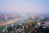 Look at the panorama of Chongqing on the high altitude