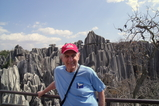 Mickey at the Stone Forest in Kunming